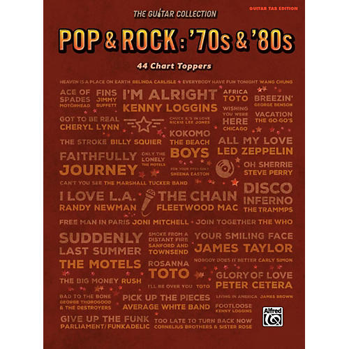 Alfred The Guitar Collection, Pop & Rock: '70s & '80s Guitar TAB Edition Songbook