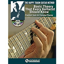 Homespun The Happy Traum Guitar Method - Basic Theory That Every Guitarist Should Know BK/CD by Happy Traum