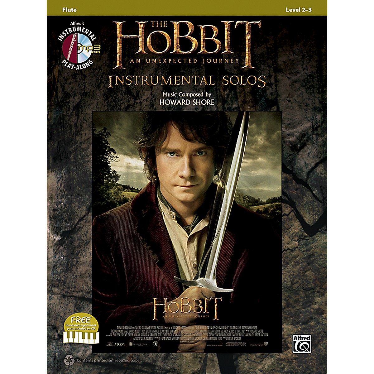 Alfred The Hobbit: An Unexpected Journey Instrumental Solos Flute (Book/CD)