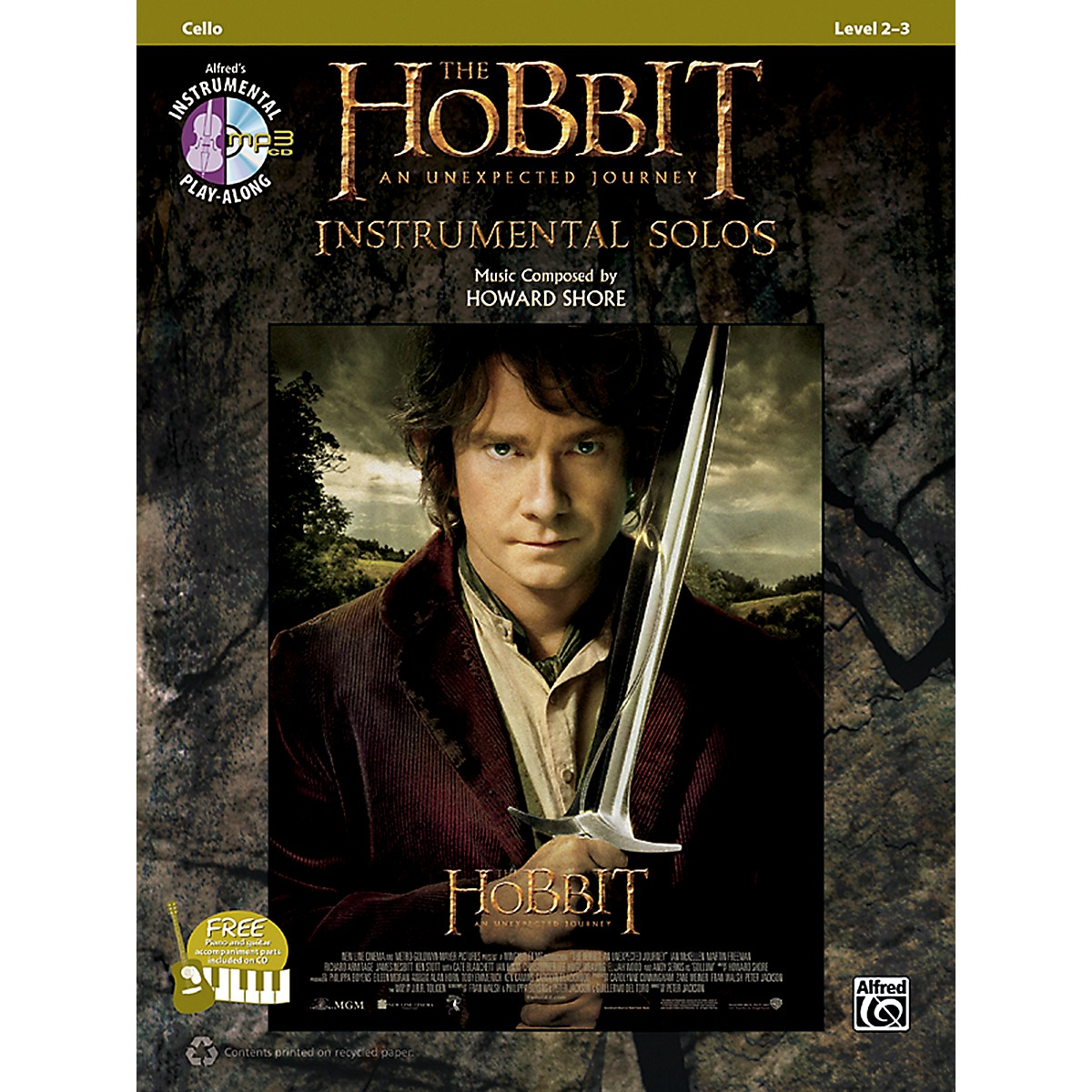 Alfred The Hobbit: An Unexpected Journey Instrumental Solos for Strings Cello (Book/CD)