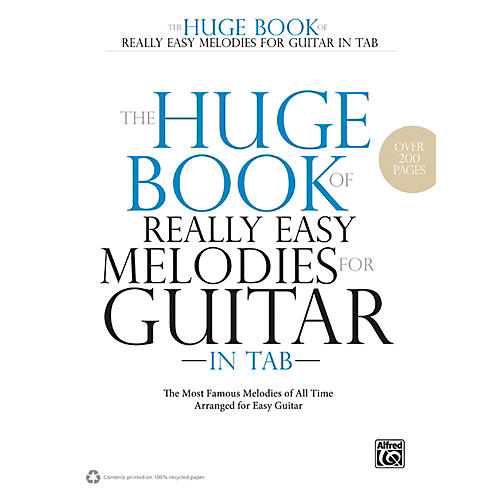 Alfred The Huge Book of Really Easy Melodies for Guitar in TAB