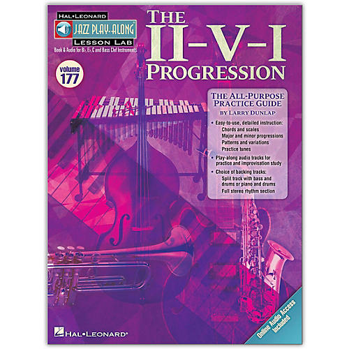 Hal Leonard The II-V-I Progression - Jazz Play-Along Lesson Lab Vol. 177 Book/Online Audio