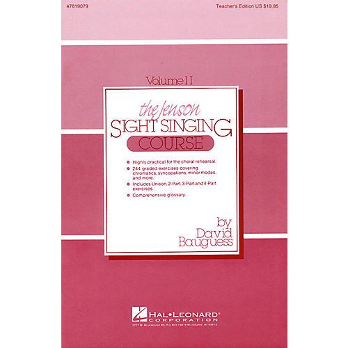 Hal Leonard The Jenson Sight Singing Course (Vol. II) TEACHER ED composed by David Bauguess