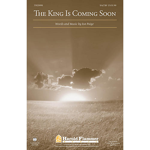Shawnee Press The King Is Coming Soon 2 Part Mixed Composed by Jon Paige