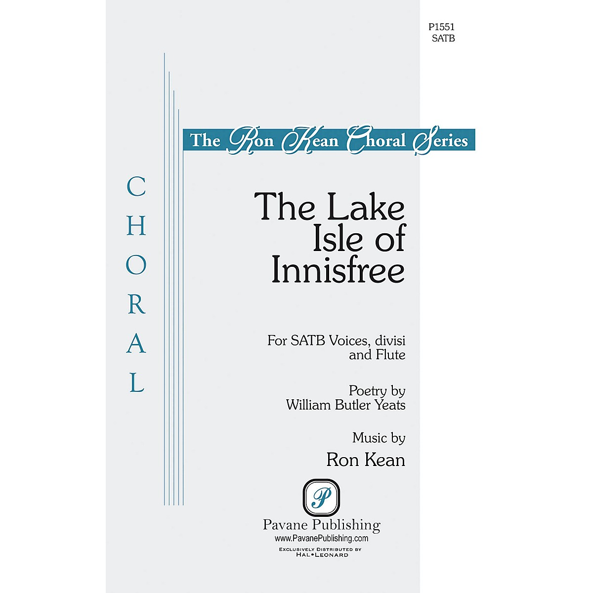 Pavane The Lake Isle of Innisfree SATB composed by Ron Kean