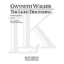 Lauren Keiser Music Publishing The Light Descending (for Brass Quintet) LKM Music Series by Gwyneth Walker