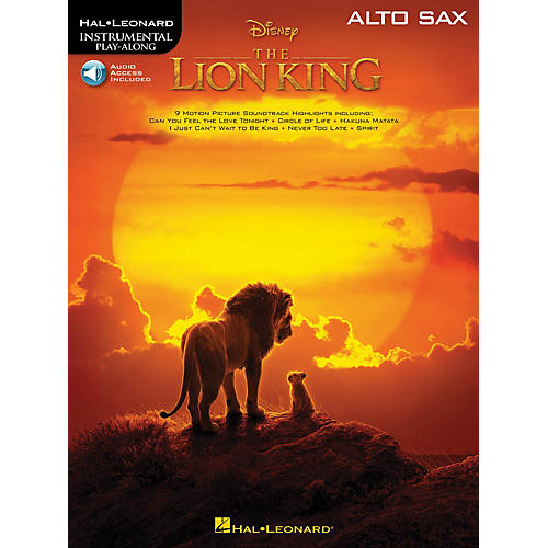 Hal Leonard The Lion King for Alto Sax Instrumental Play-Along Book/Audio Online
