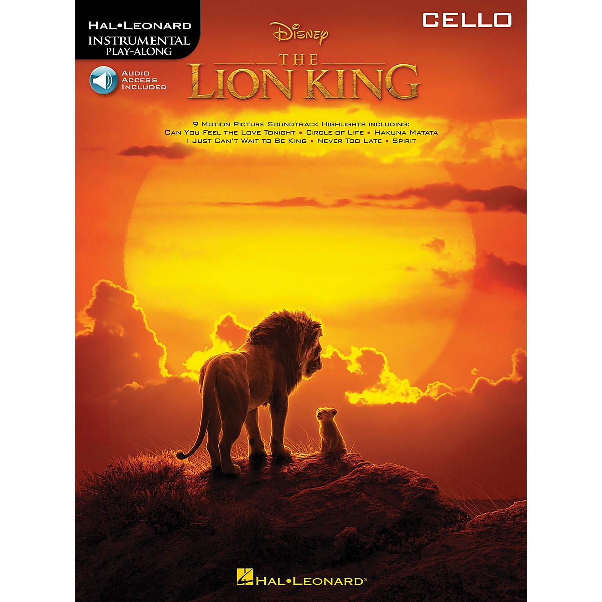 Hal Leonard The Lion King for Cello Instrumental Play-Along Book/Audio Online