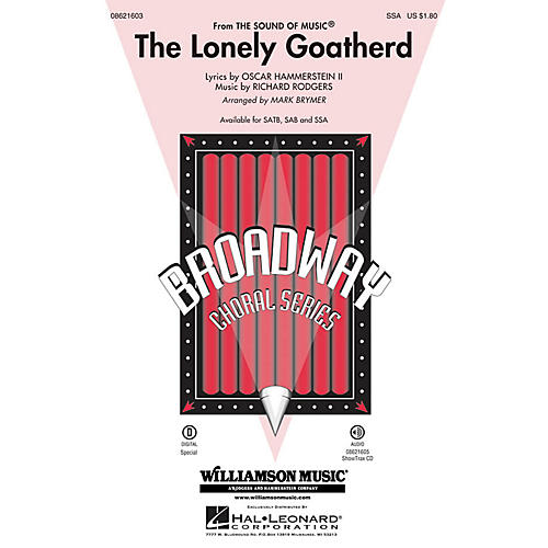 Hal Leonard The Lonely Goatherd (from The Sound of Music) SSA arranged by Mark Brymer