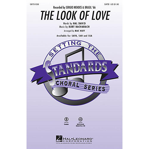 Hal Leonard The Look of Love SATB by Sergio Mendes & Brasil '66 arranged by Mac Huff
