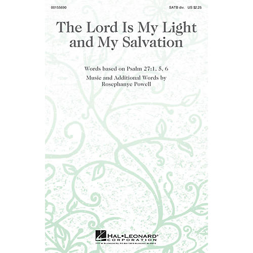 Hal Leonard The Lord Is My Light and My Salvation SATB Divisi composed by Rosephanye Powell