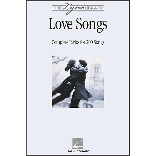 Hal Leonard The Lyric Library: Love Songs Book