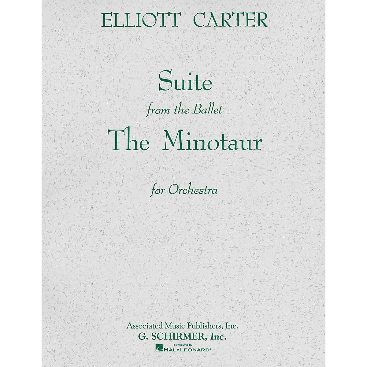 Associated The Minotaur (Ballet Suite) (Full Score) Study Score Series Composed by Elliott Carter