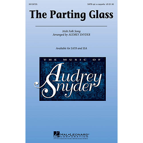 Hal Leonard The Parting Glass SATB arranged by Audrey Snyder