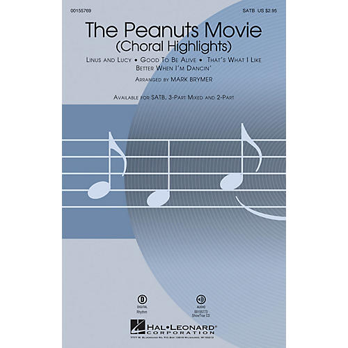 Hal Leonard The Peanuts Movie (Choral Highlights) SATB arranged by Mark Brymer
