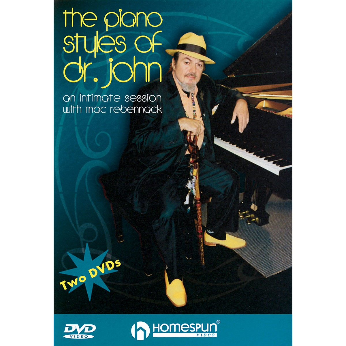 Homespun The Piano Styles of Dr. John - 2-DVD Set Homespun Tapes Series DVD Written by Dr. John Rebennack
