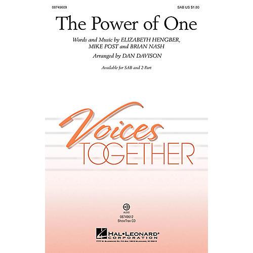 Hal Leonard The Power of One 2-Part Arranged by Dan Davison