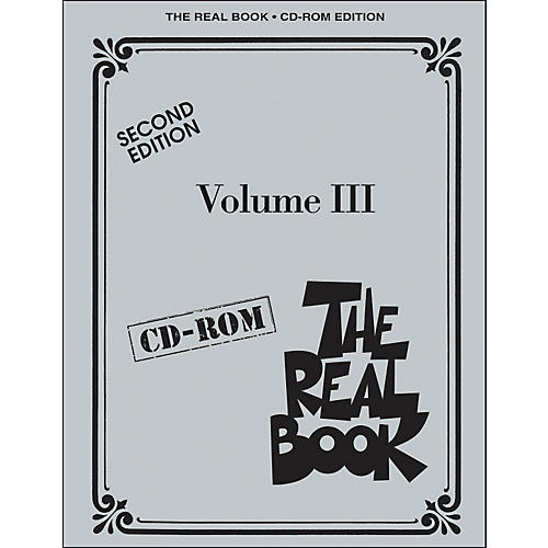 Hal Leonard The Real Book Volume 3 Second Edition C Instruments CD-Rom