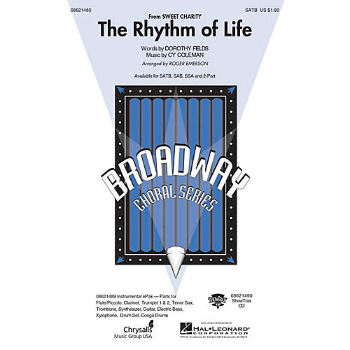 Hal Leonard The Rhythm of Life (from Sweet Charity) SAB Arranged by Roger Emerson