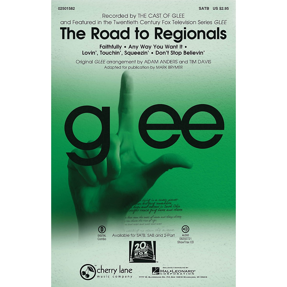 Cherry Lane The Road to Regionals (Choral Medley) (featured on Glee) SATB by Glee Cast arranged by Adam Anders