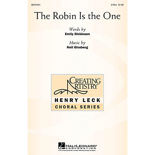 Hal Leonard The Robin Is the One 2-Part composed by Neil Ginsberg