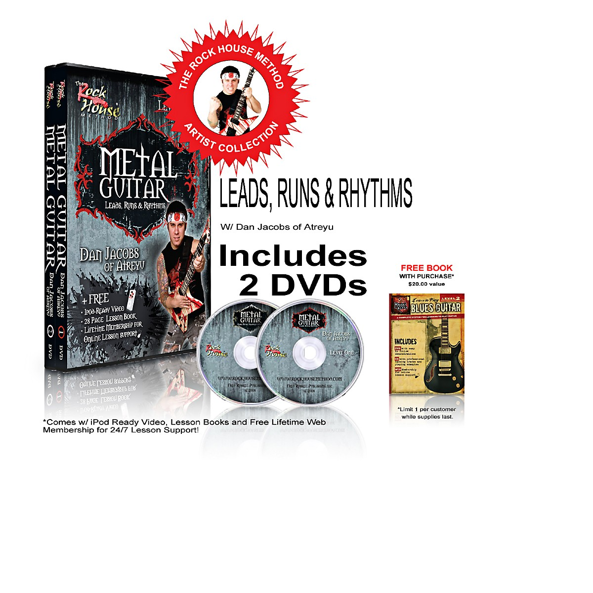 Hal Leonard The Rock House Method - Dan Jacobs DVD Collection