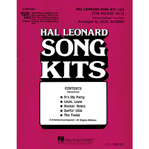 Hal Leonard The Rockin' 60s (Song Kit #23) UNIS/2PT Arranged by Dick Averre