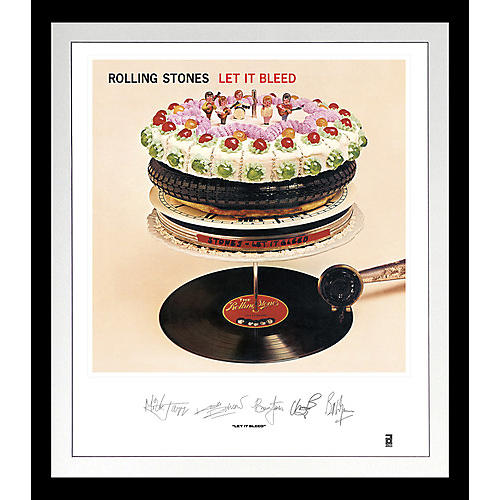 Alliance The Rolling Stones - Rolling Stones: Let It Bleed Lithograph & Clear Vinyl (Framed)