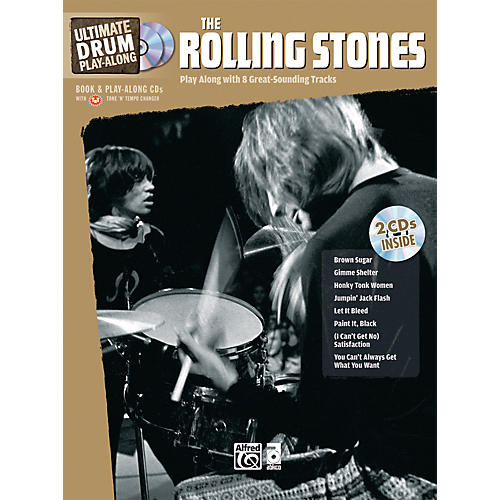 Alfred The Rolling Stones Ultimate Drum Play-Along (Book/2 CD)