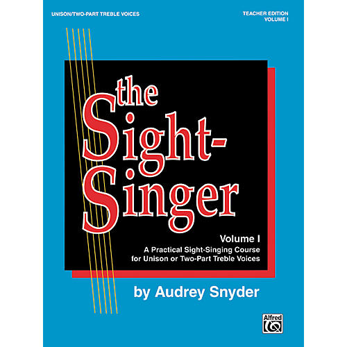 Alfred The Sight-Singer Volume I for Unison/Two-Part Treble Voices Book & Key Cards