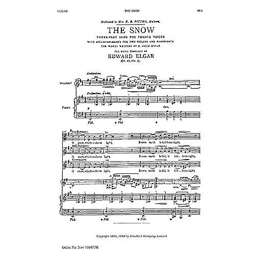 Novello The Snow: Op. 26, No.1 SSA Composed by Edward Elgar