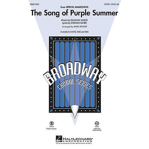 Hal Leonard The Song of Purple Summer (from Spring Awakening) ShowTrax CD Arranged by Mark Brymer