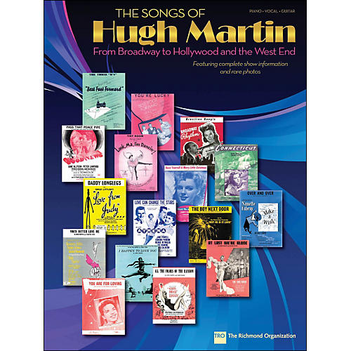 Hal Leonard The Songs Of Hugh Martin arranged for piano, vocal, and guitar (P/V/G)
