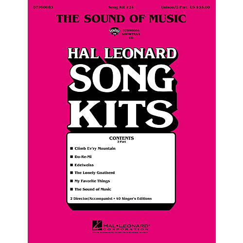Hal Leonard The Sound of Music (Song Kit #24) UNIS/2PT Arranged by Dick Averre