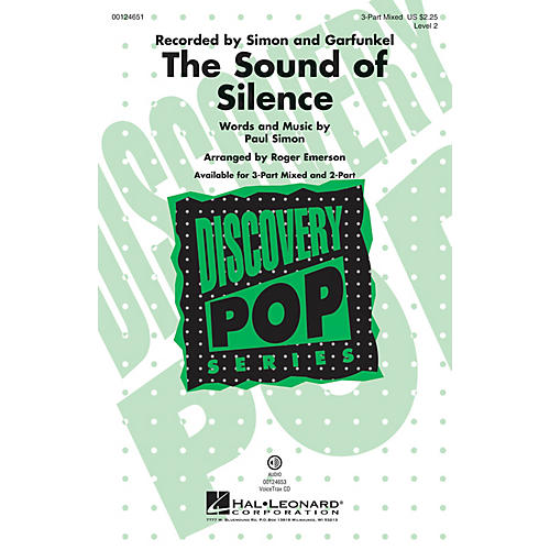 Hal Leonard The Sound of Silence (Discovery Level 2) 3-Part Mixed by Paul Simon arranged by Roger Emerson