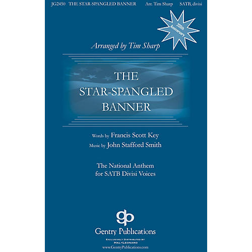Gentry Publications The Star-Spangled Banner TTBB A Cappella Arranged by Tim Sharp