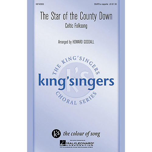 Hal Leonard The Star of the County Down SATB a cappella by The King's Singers arranged by Howard Goodall