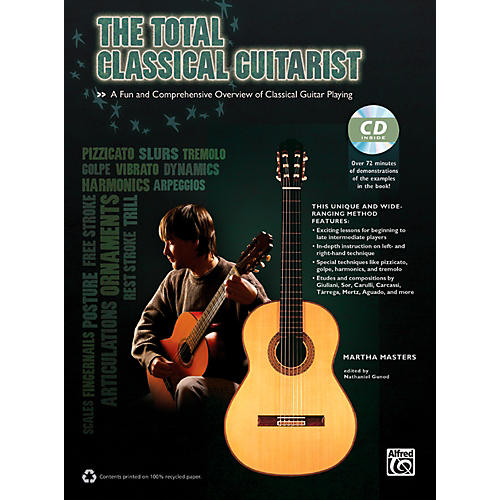Alfred The Total Classical Guitarist Book & CD
