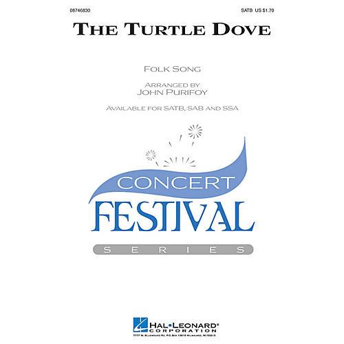 Hal Leonard The Turtle Dove SATB arranged by John Purifoy