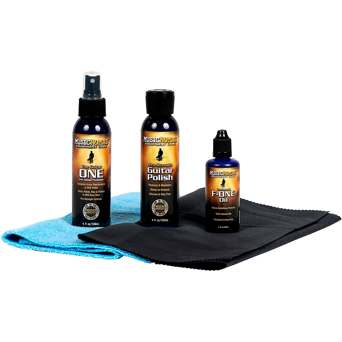 MusicNomad The Ultimate Professional Grade 5-Piece Guitar Care Pack