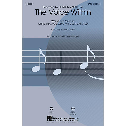 Hal Leonard The Voice Within SSA by Christina Aguilera Arranged by Mac Huff
