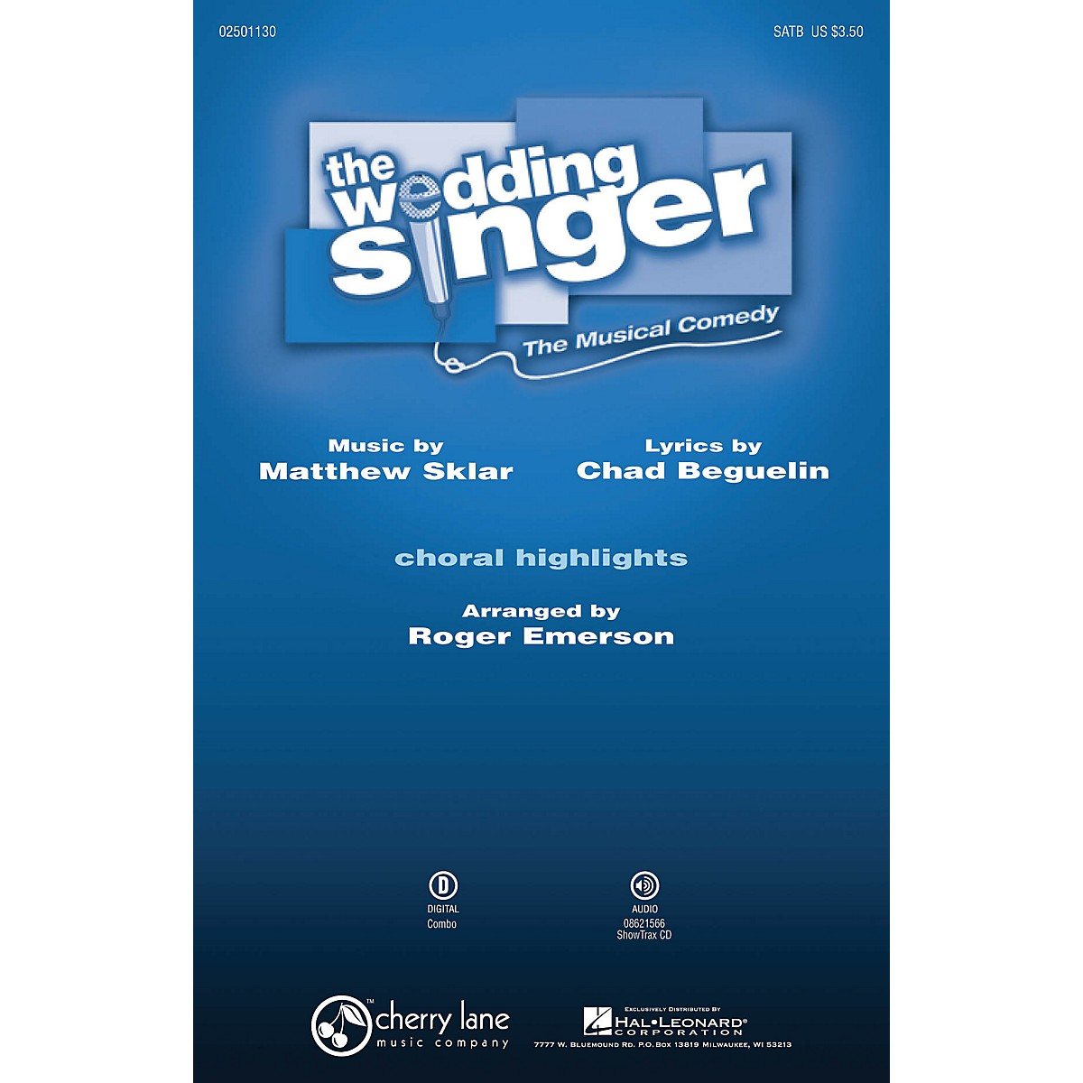 Cherry Lane The Wedding Singer (Choral Highlights) SATB arranged by Roger Emerson