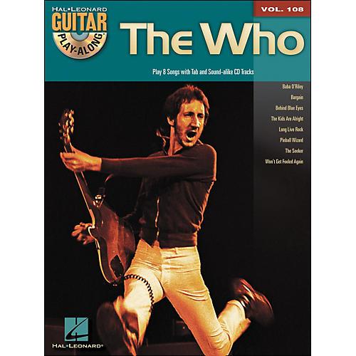 Hal Leonard The Who - Guitar Play-Along Volume 108 (Book/CD)