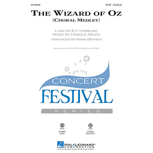 Hal Leonard The Wizard of Oz (Choral Medley) 2-Part Arranged by Mark Brymer