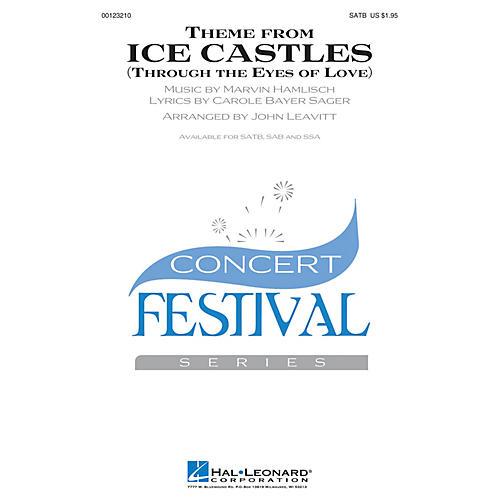 Hal Leonard Theme from Ice Castles (Through the Eyes of Love) SATB by Melissa Manchester arranged by John Leavitt