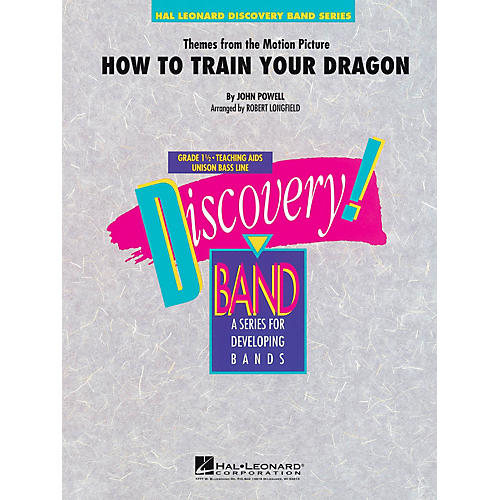 Hal Leonard Themes from How to Train Your Dragon Concert Band Level 1.5 Arranged by Robert Longfield
