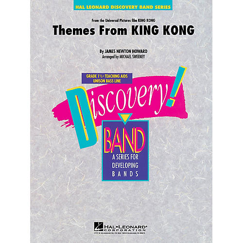Hal Leonard Themes from King Kong Concert Band Level 1.5 Arranged by Michael Sweeney