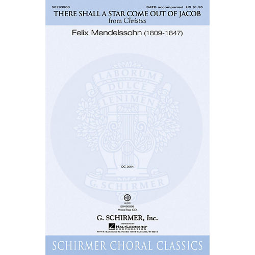 G. Schirmer There Shall a Star Come Out of Jacob SATB composed by Felix Mendelssohn