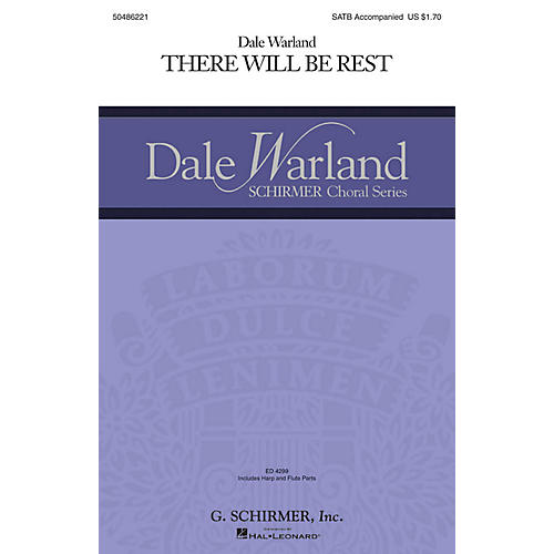 G. Schirmer There Will Be Rest (Dale Warland Choral Series) SATB composed by Dale Warland
