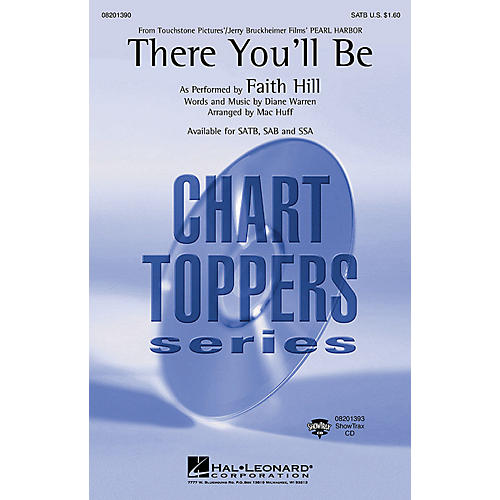 Hal Leonard There You'll Be (from Pearl Harbor) (ShowTrax CD) ShowTrax CD by Faith Hill Arranged by Mac Huff